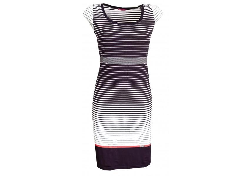Pruhované letní modro bílé šaty
