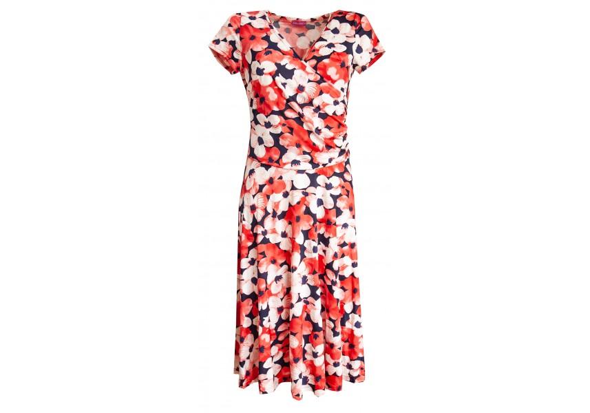 Letní šaty s červenými květy