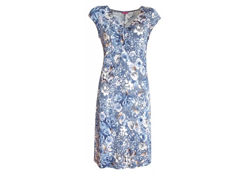 Letní šaty s tiskem květů