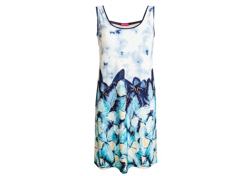 Plážové modro bílé šaty