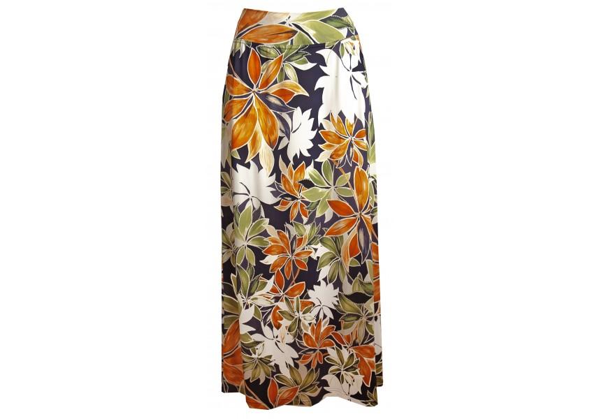Dlouhá letní sukně s tiskem květů