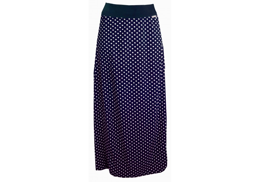 Letní dlouhá sukně s puntíky
