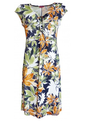 Dámské letní šaty a tiskem květů