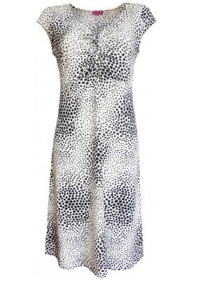 Letní šaty s geometrickým tiskem