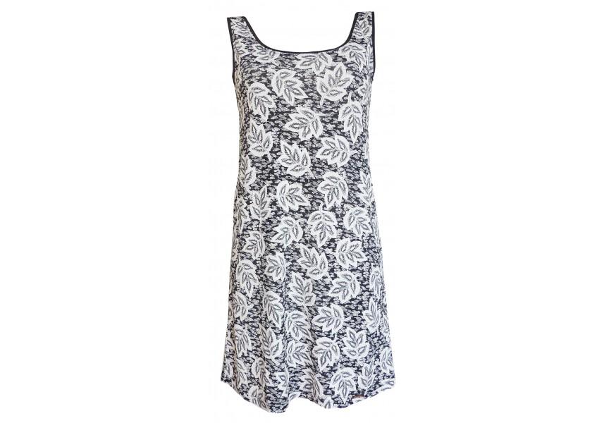 Letní černo bílé plážové šaty