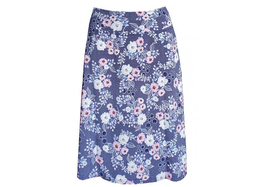 Modro bílá letní sukně