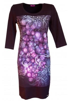 Fialovo černé šaty