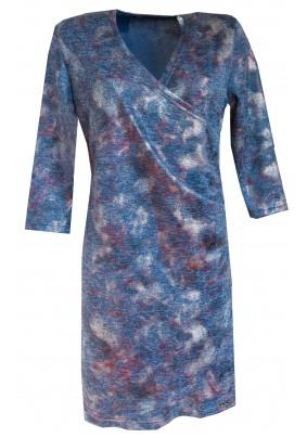 Tmavě modré šaty s leskem