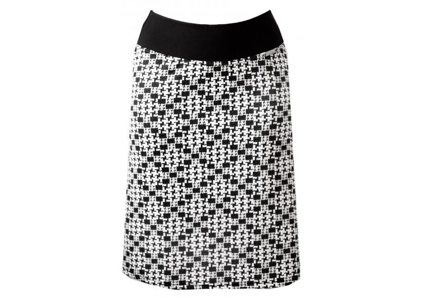 Černo bílá krátká sukně