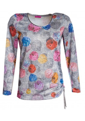 Podzimní svetr s tkaničkou na boku