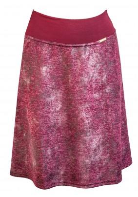 Vínová sukně s jemným vzorem