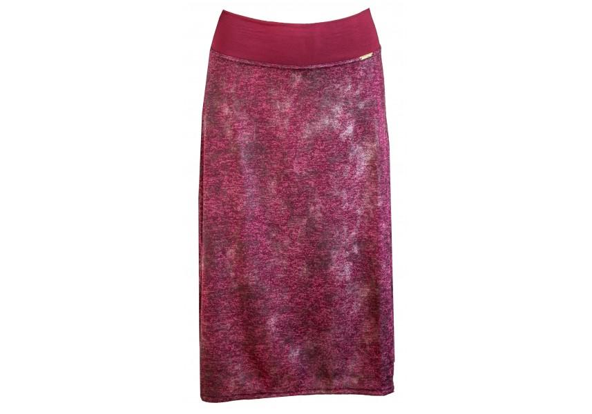 Vínová sukně pod kolena
