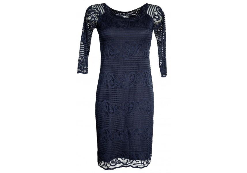 Krajkové tmavě modré šaty