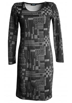 Teplé šaty s plastickým vzorem