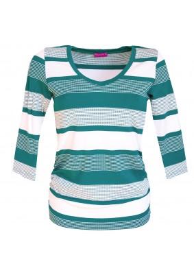 Zeleno bílé pruhované triko