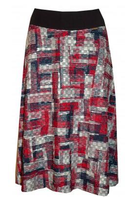 Teplejší sukně s plastickým vzorem