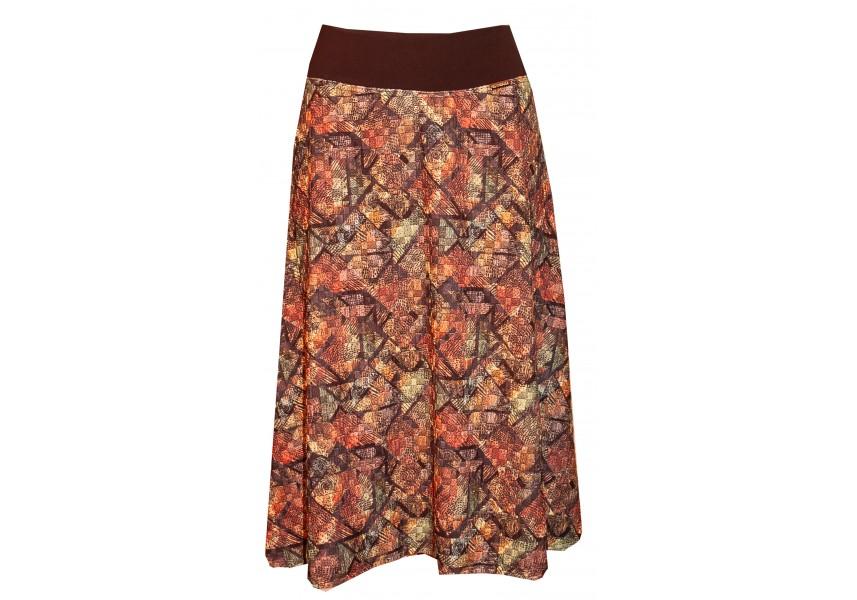 Podzimní sukně v teplých barvách
