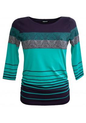 Modro tyrkysové triko