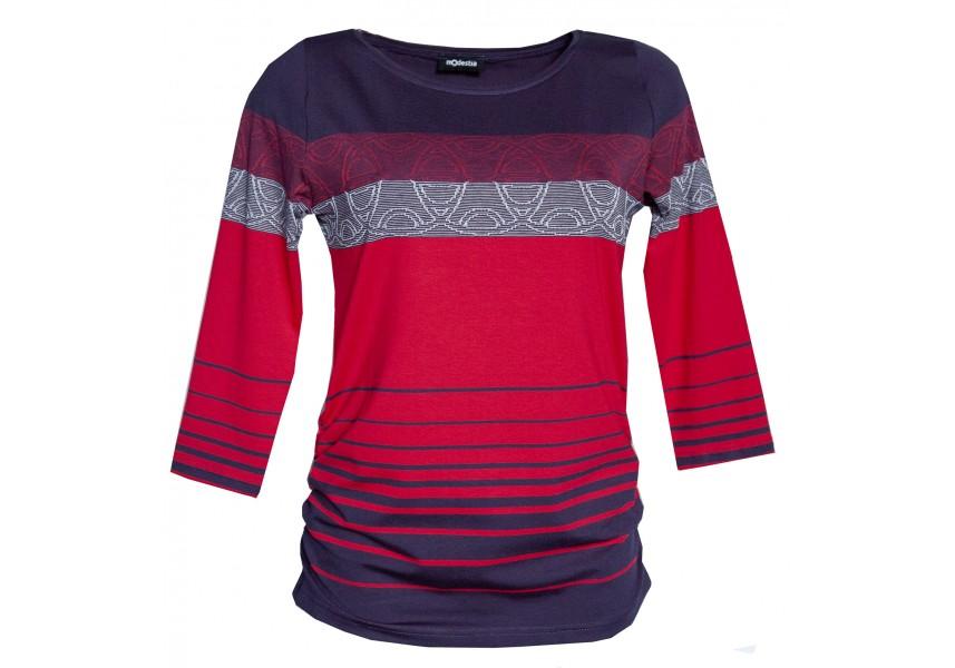 Pruhované červeno modré triko