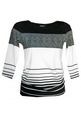 Černo bílé pruhované triko