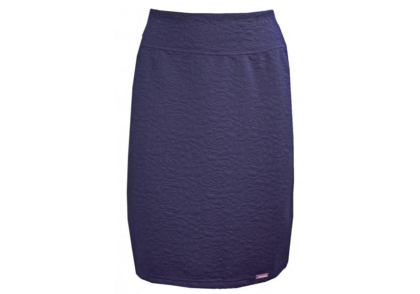 Modrá sukně s vytlačovaným vzorem