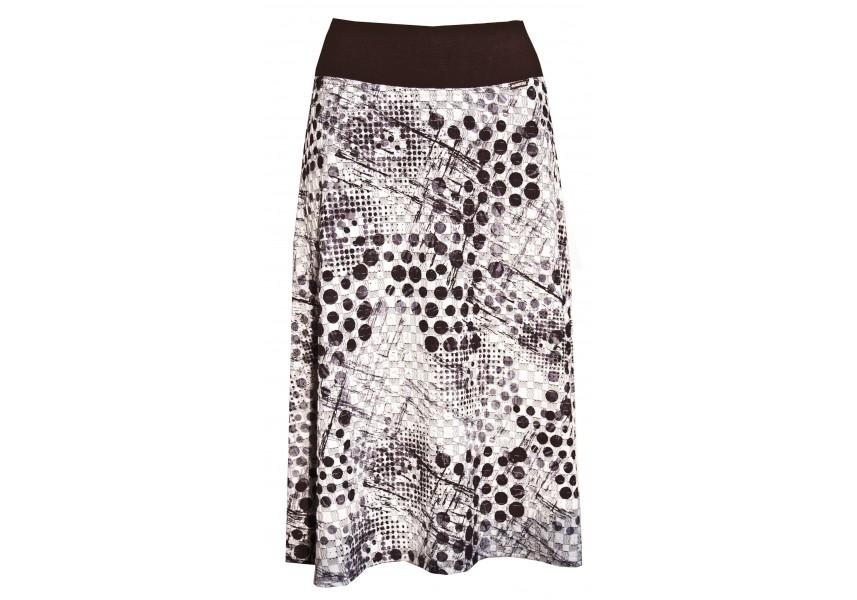 Černo bílá teplejší sukně