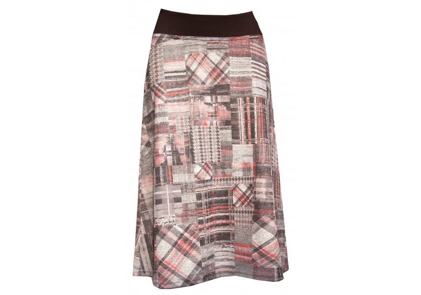 Teplejší šedo červená sukně