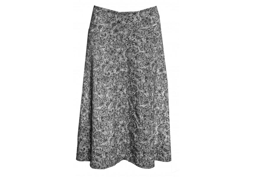 Teplejší sukně černo bílá
