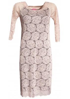Smetanové krajkové šaty
