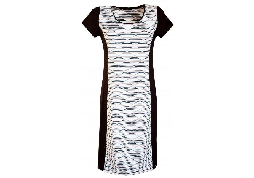 Elegantní kombinované šaty