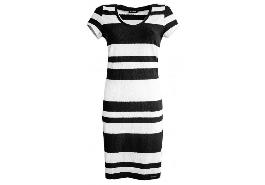Elegantní šaty s pruhy