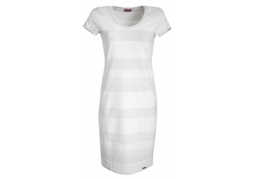 Světlé šaty s pruhy