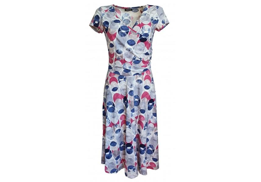 Barevné šaty se širokou sukní