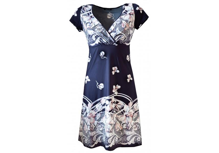Letní modro-bílé šaty