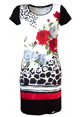 Jarní elegantní šaty s tiskem