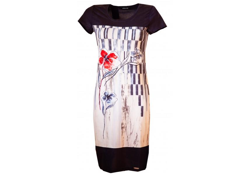 Jarní šaty s modrým sedlem