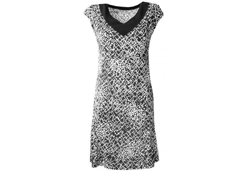 Černo bílé letní šaty
