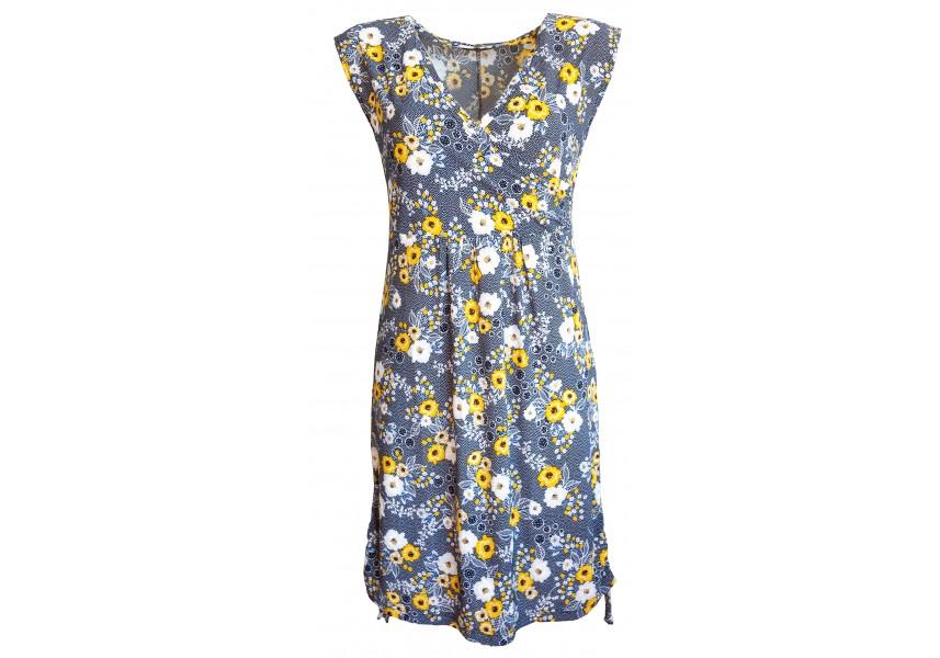 Šaty se žlutými květy