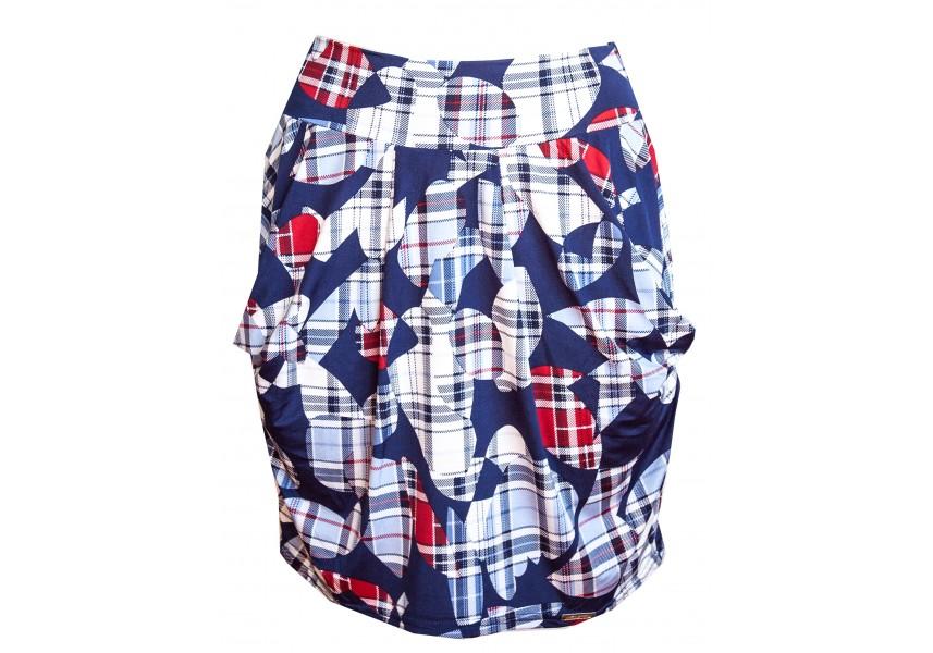 Barevná kapsová sukně