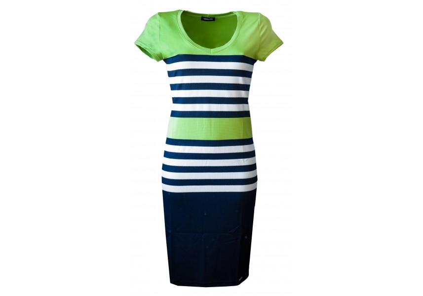 Zelené pruhované šaty