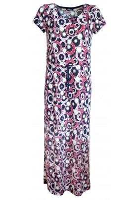 Dlouhé šaty s geometrickým vzorem