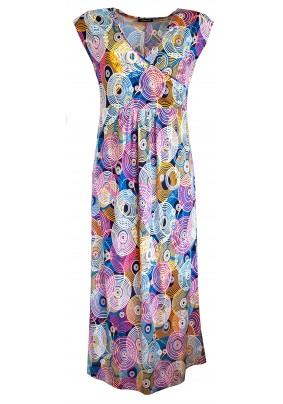 Barevné letní dlouhé šaty