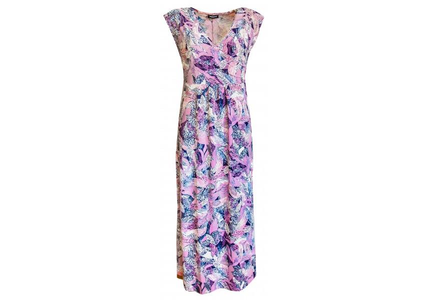 Letní dlouhé růžové šaty