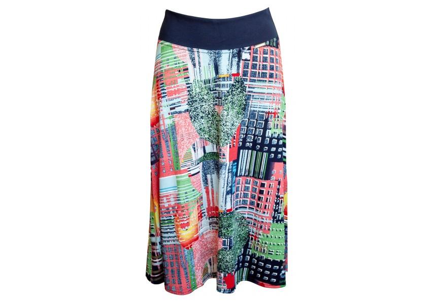 Barevná sukně do A pod kolena