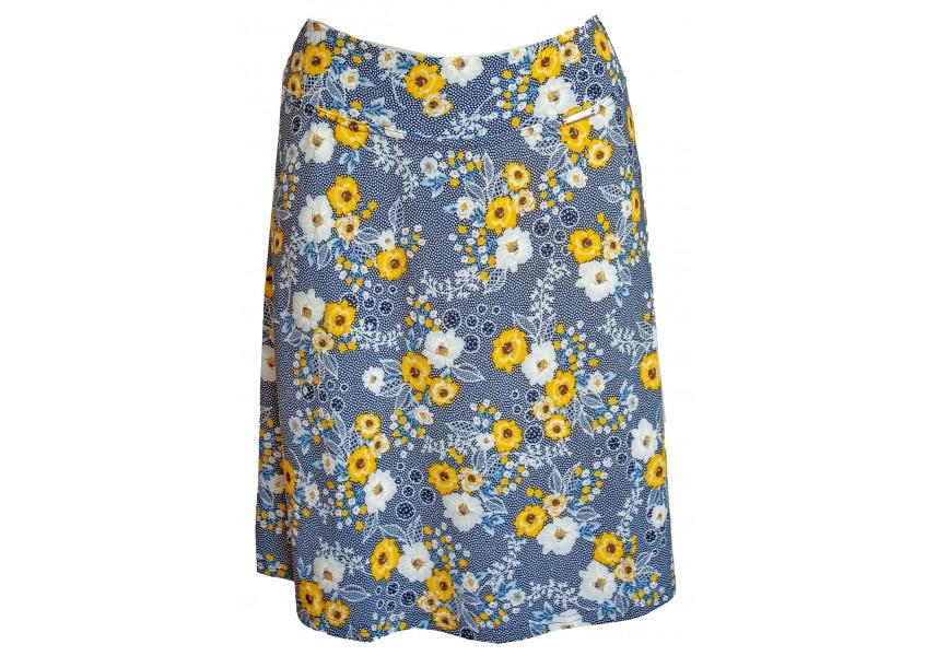 Letní sukně se žlutými květy