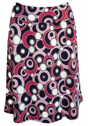 Letní rozšířená sukně s tiskem koleček