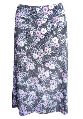 Červeno modrá letní sukně