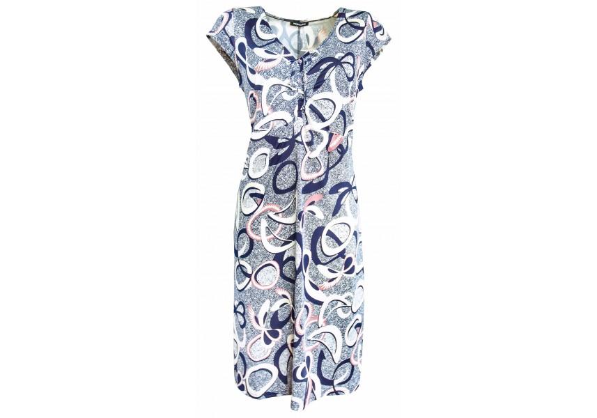 Letní šaty na stažení na prsou