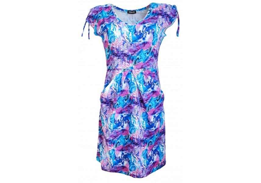 Kapsové šaty s tiskem barevných kvítků