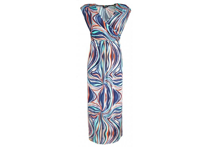Dlouhé šaty s barevným tiskem